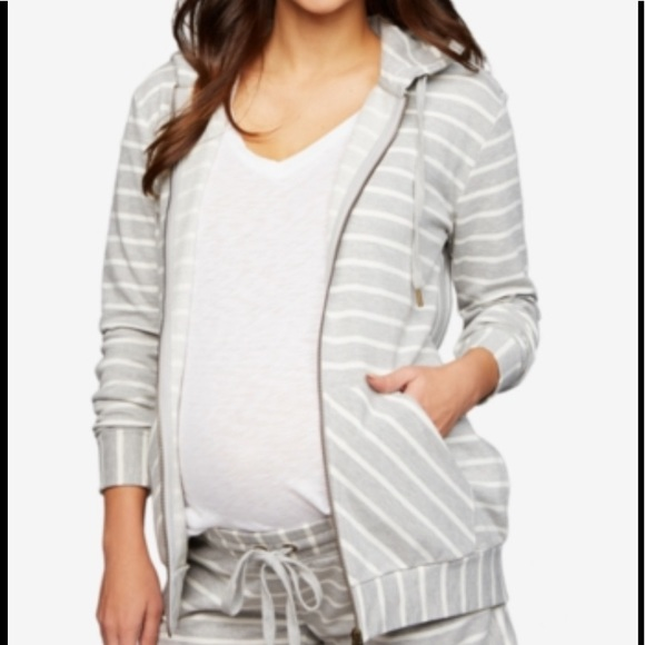 A Pea in the Pod Jackets & Blazers - A PEA IN THE POD MATERNITY HOODIE